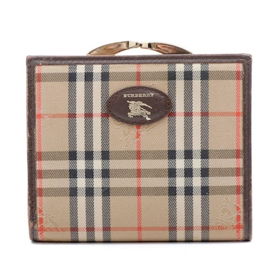 """Burberry Coin Purse in """"Haymarket Check"""" Canvas and Leather"""
