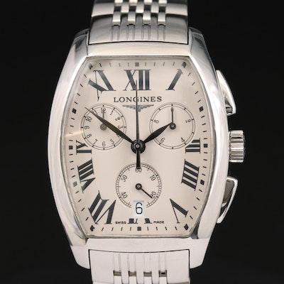 Longines Evidenza Stainless Steel Quartz Chronograph Wristwatch