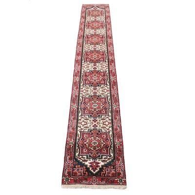 2'7 x 16'4 Hand-Knotted Indo-Persian Heriz Serapi Runner