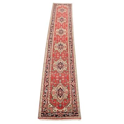 2'6 x 14'8 Hand-Knotted Indo-Persian Heriz Serapi Runner