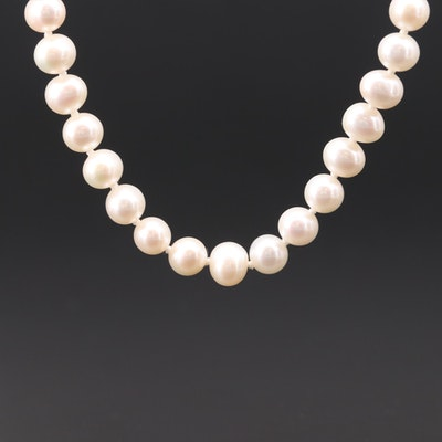 Pearl Strand Necklace with 14K White Gold Clasp