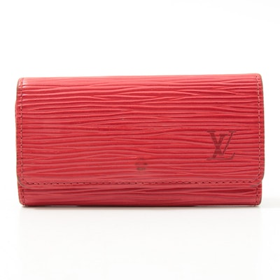 Louis Vuitton Red Epi Leather Key Wallet