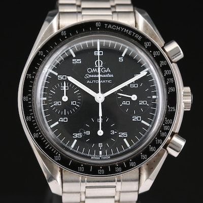 Omega Speedmaster Reduced Stainless Steel Automatic Wristwatch