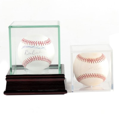 Mookie Wilson-Bill Buckner and Doc Gooden Signed Rawlings Baseballs, COAs