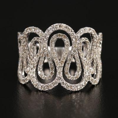 14K White Gold 1.58 CTW Diamond Ring