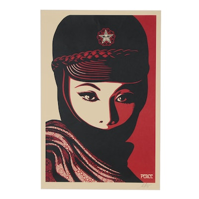 "Shepard Fairey Offset Poster ""Mujer Fatale"""