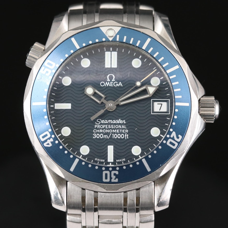 Omega Seamaster Stainless Steel Automatic Wristwatch