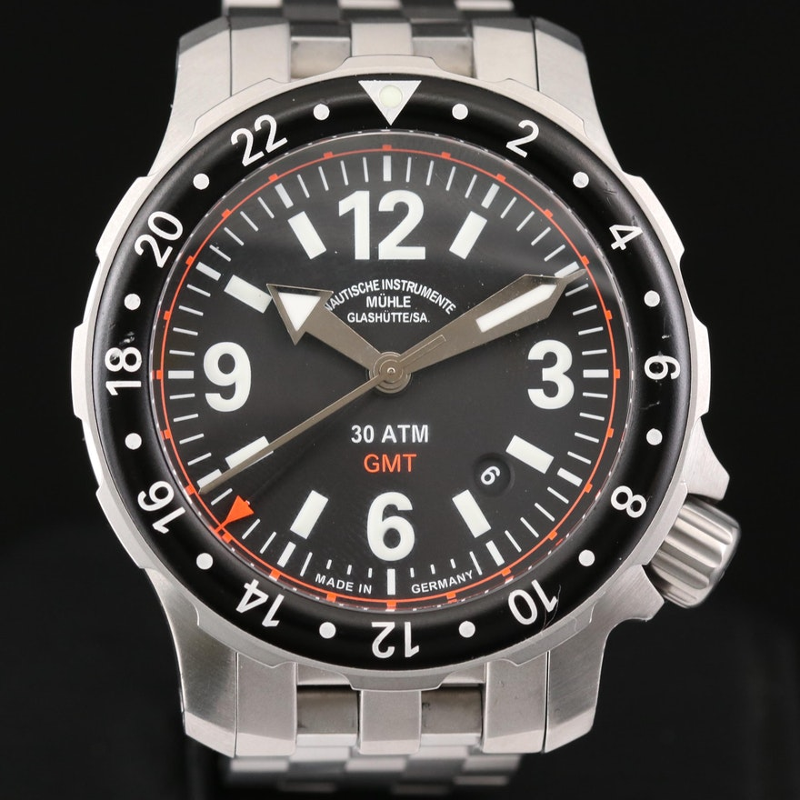 Muhle - Glashutte Marinus GMT Stainless Steel Automatic Wristwatch