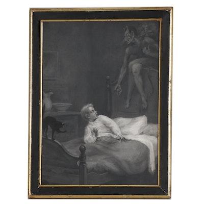 "John Ward Dunsmore Oil Painting ""Boy and Cat"""