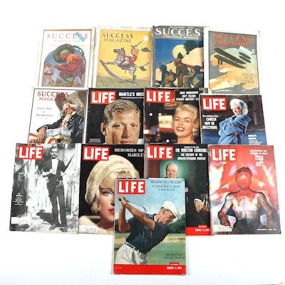 """September 1966 """"Life Magazine"""", 1910 """"Success Magazine"""", and Other Magazines"""
