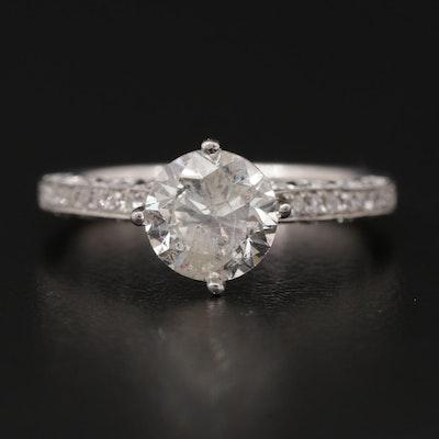 18K White Gold 1.84 CTW Diamond Ring