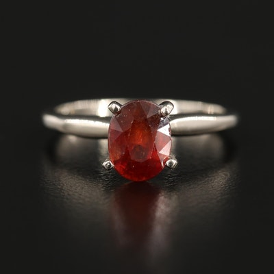 14K Yellow Gold 1.82 CT Ruby Solitaire Ring