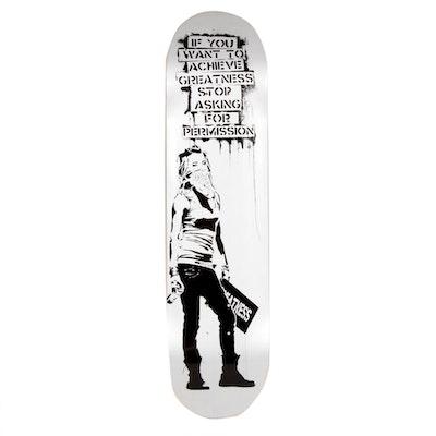 "Eddie Colla Skate Deck Print ""Ambition Silver"" Skate Day Variant, 2018"