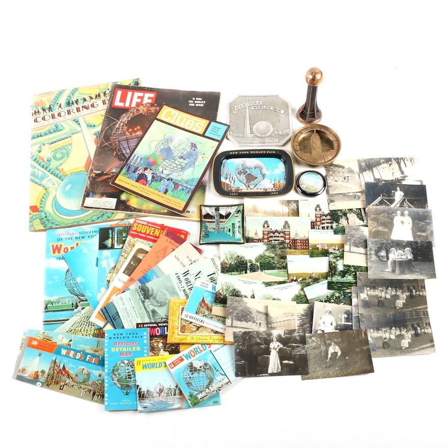 1964/1965 New York World's Fair Memorabilia and Other World's Fair Items