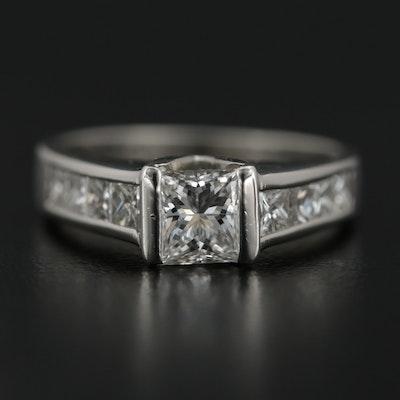 Platinum 1.47 CTW Diamond Ring