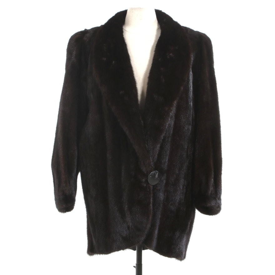 Dark Mahogany Mink Fur Stroller from Furs by Mistygrange