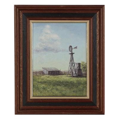 Bill Craig Farm Landscape Oil Painting