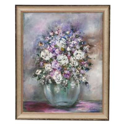 Floral Still Life Impasto Oil Painting