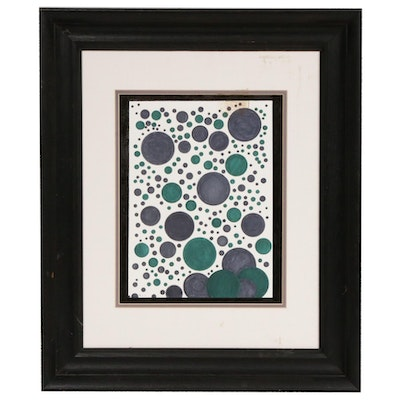 Dorothy Schiller Abstract Circles Watercolor Painting