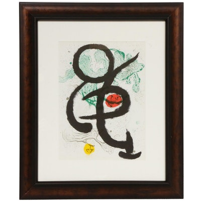 "Joan Miró Color Lithograph for ""Derrière le Miroir,"" 1963"