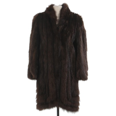 Opossum Fur Coat by Leakas Furs, Vintage