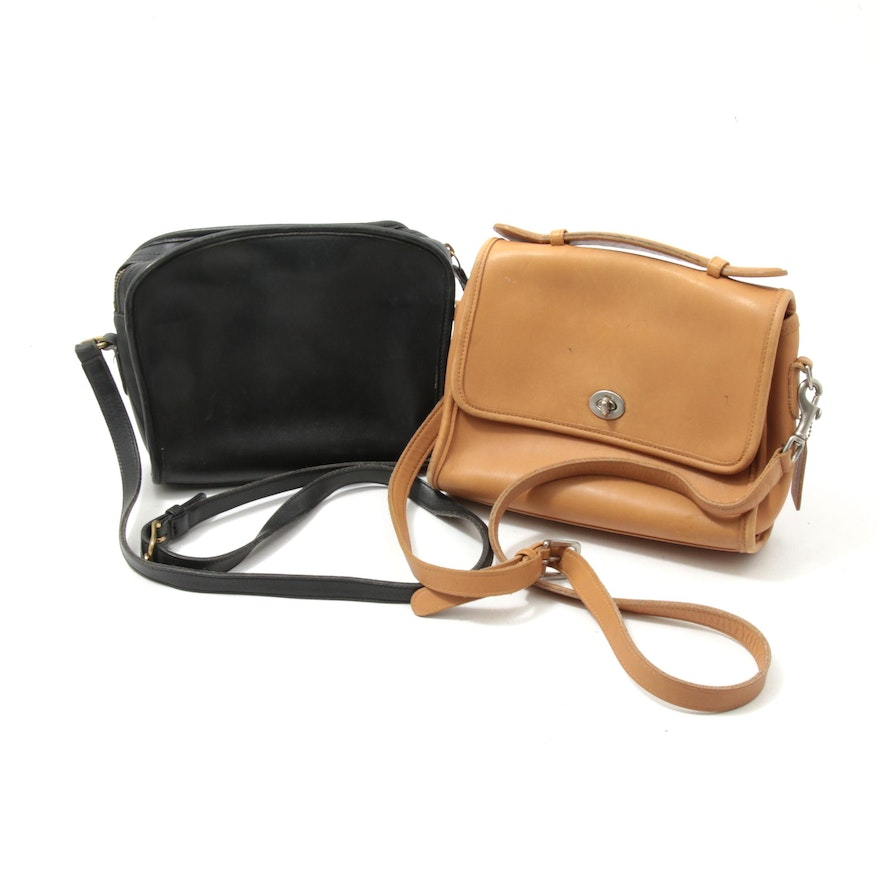 Coach Metropolis and Coach Court Leather Crossbody Bags