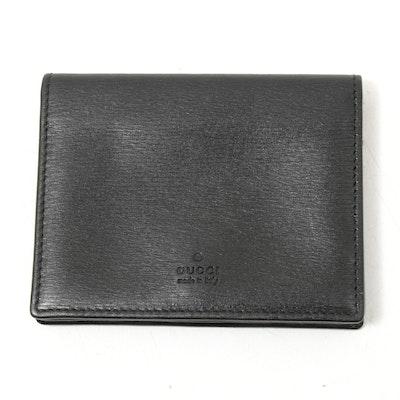 Gucci Black Cross Grain Leather Bifold Wallet