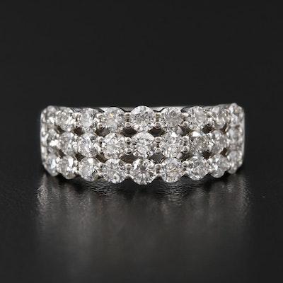 14K White Gold 1.90 CTW Diamond Ring