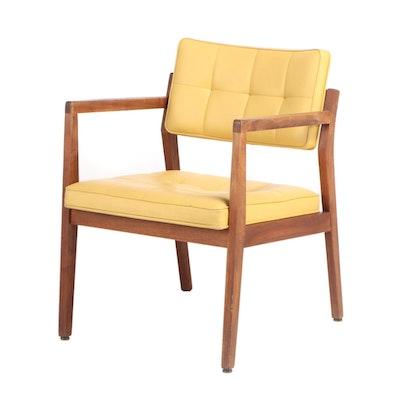 Jasper Chair Co. Mid Century Modern Walnut Open Armchair