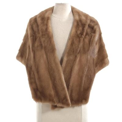 Mink Fur Stole by Mademoiselle Furs, Vintage
