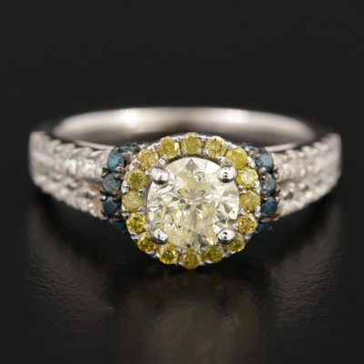 14K White Gold 1.63 CTW Diamond Ring