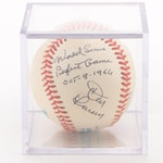 Don Larsen Signed and Inscribed American League Baseball  COA