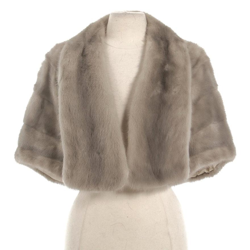 Silverblue Mink Fur Capelet from Shillito's Fur Salon, Vintage