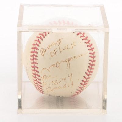 """Morganna """"Kissing Bandit"""" Signed National League Baseball  COA"""