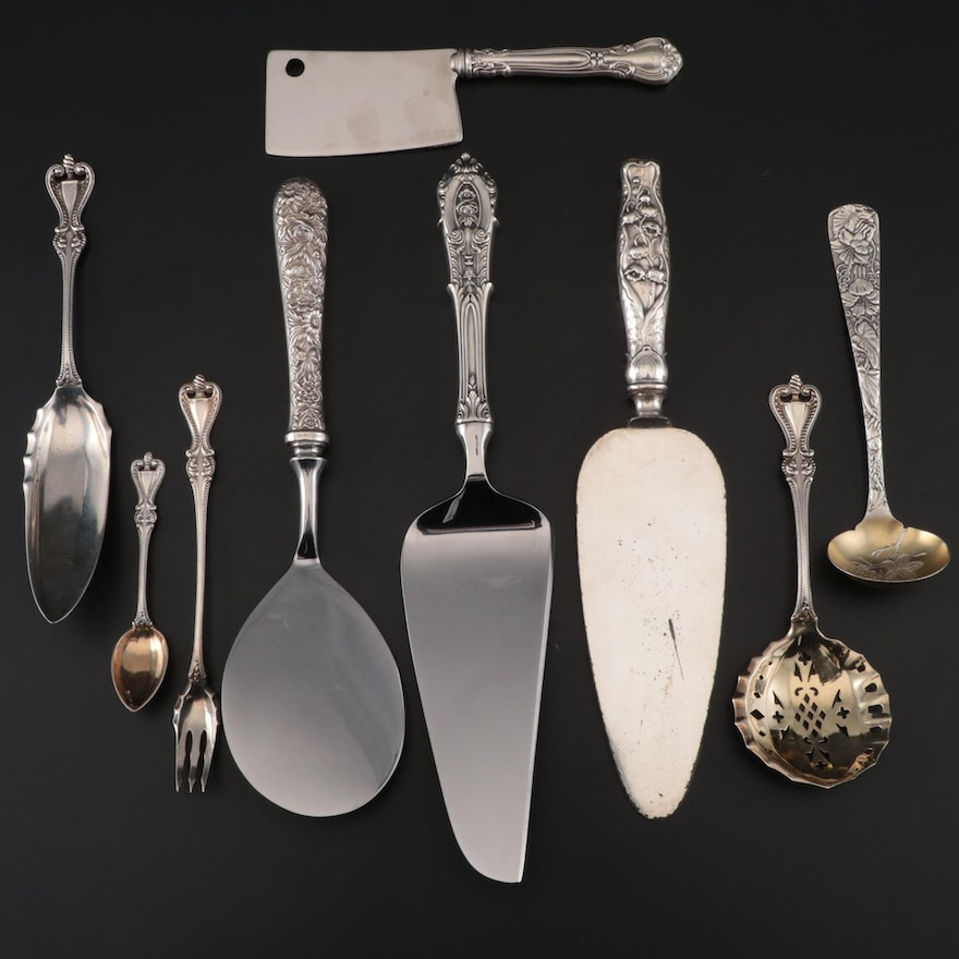 """Towle """"Old Colonial"""" Sterling Serving Utensils and Other Sterling Flatware"""