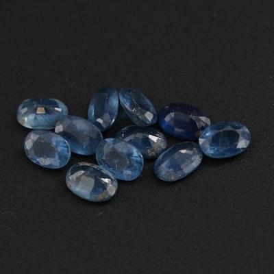 Loose 6.27 CTW Blue Sapphire Gemstones