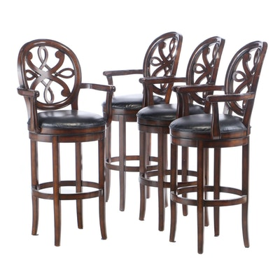 Four Frontgate Swivel Bar Stools by Hillsdale Furniture
