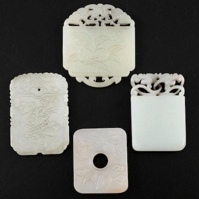 Chinese Carved Nephrite Jade Pendants