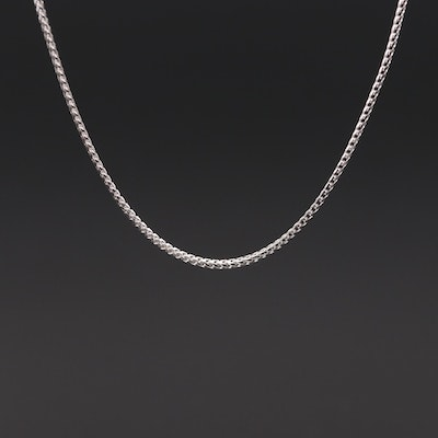 10K White Gold Fancy Link Chain