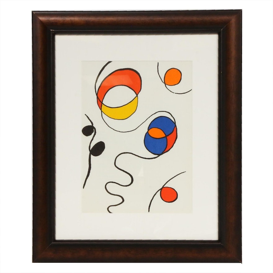 "Alexander Calder Color Lithograph for ""Derrière le Miroir,"" 1968"