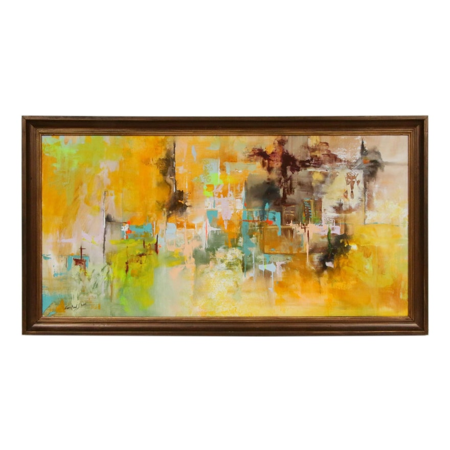 Farshad Lanjani Abstract Acrylic Painting, 2019