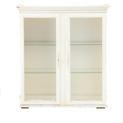 White-Painted Display Cabinet, Late 20th Century