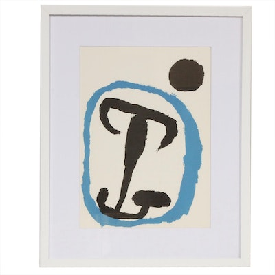 "Joan Miró Color Lithograph for ""Derrière le Miroir,"" 1956"