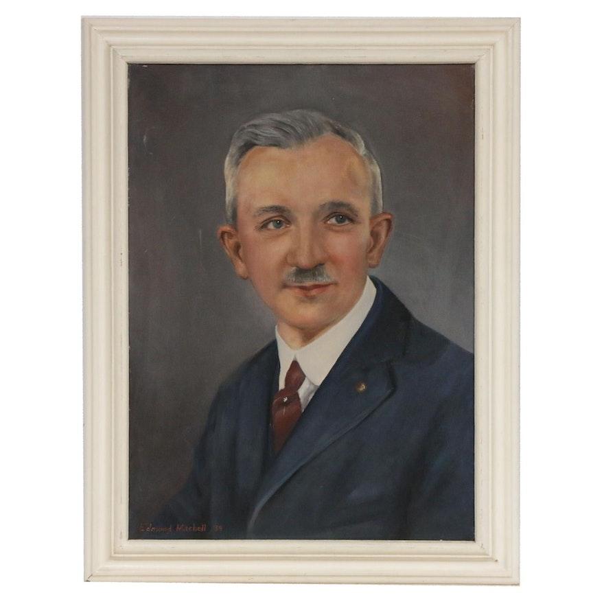 Male Portrait Oil Painting, 1939
