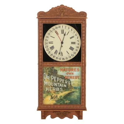 "St. Charles Clocks ""Dr. Pepper's Mountain Herbs"" Eight-Day Regular Wall Clock"