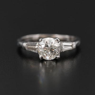 Platinum 1.30 CTW Diamond Ring