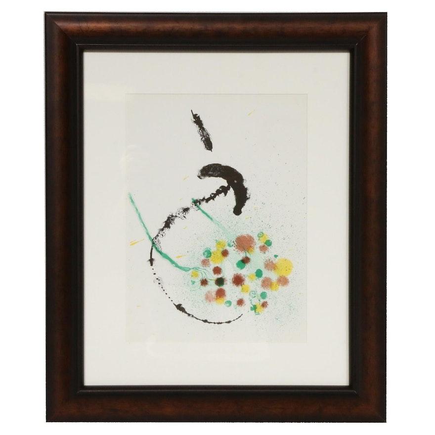 """Joan Miró Color Lithograph for """"Derrière le Miroir,"""" 1963"""