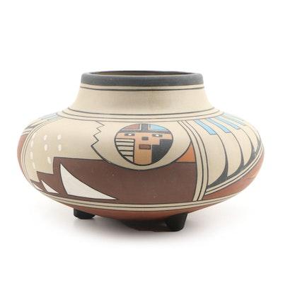 Aadam American Indian Southwestern Pottery Vase, 21st Century