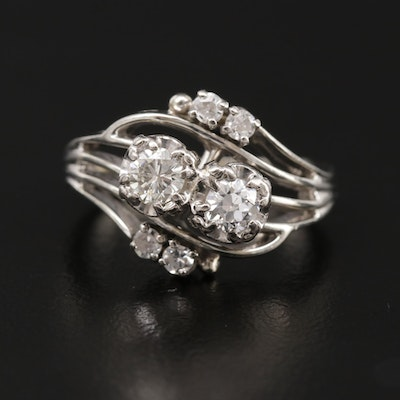 Jabel 18K White Gold Diamond Ring