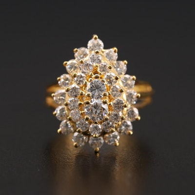 14K Yellow Gold 2.50 CTW Diamond Ring
